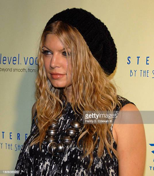Fergie during Level Vodka Presents Stereo By The Shore Launch Party Hosted By Fergie Arrivals at Stereo NYC in New York City New York United States