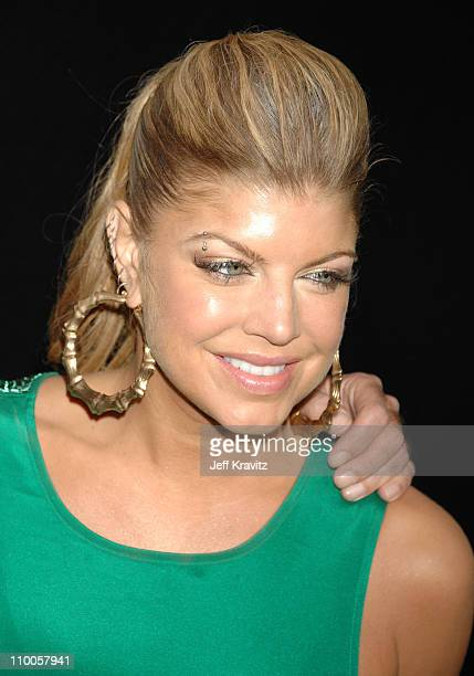 Fergie during Marc Anthony and Jennifer Lopez in Concert Arrivals at Pontiac Garage Stage in Miami Florida United States