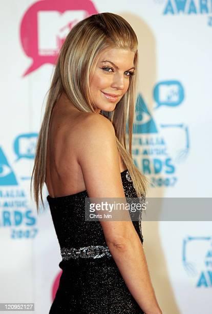 Fergie during MTV Australia Video Music Awards 2007 - Arrivals at Superdome in Sydney, NSW, Australia.