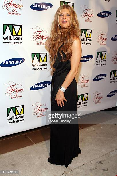 """Fergie during Samsung Celebrates Release of the K5MP3 Player and Fergie's Debut Album """"The Dutchess"""" at Tenjune in New York, NY, United States."""