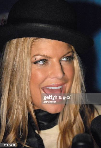 Fergie during Super Bowl XLI Pepsi Smash Media Tent in Miami Beach Florida United States