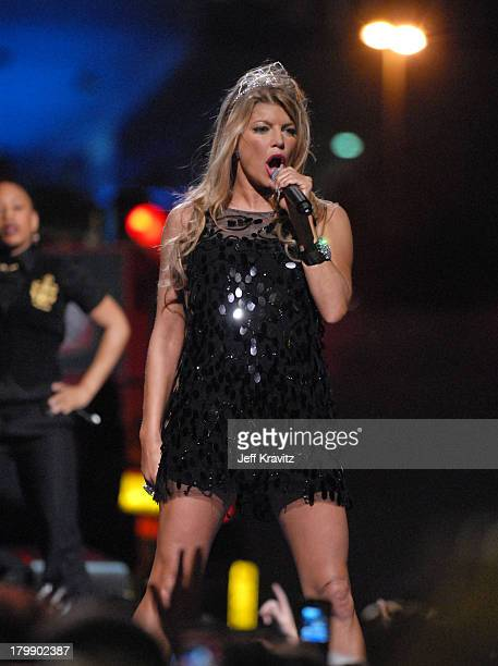 Fergie during Super Bowl XLI Pepsi Smash Show in Miami Beach Florida United States