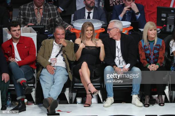 Fergie enjoys the NBA AllStar Game as a part of 2018 NBA AllStar Weekend at STAPLES Center on February 18 2018 in Los Angeles California NOTE TO USER...