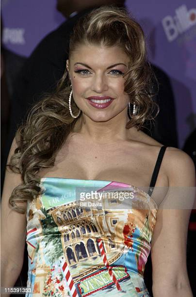 Fergie from 'Black Eyed Peas' during The 2003 Billboard Music Awards Outside Arrivals at MGM Grand Garden Arena in Las Vegas Nevada United States