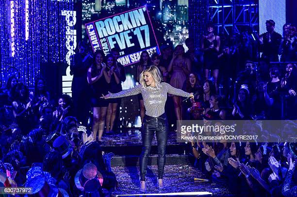 Fergie host's Dick Clark's New Year's Rockin' Eve with Ryan Seacrest on December 31 2016 in Los Angeles California