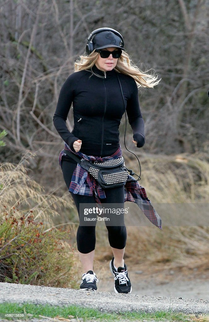 Fergie is seen as she takes a hike in the Santa Monica Mountains on December 19, 2013 in Los Angeles, California.