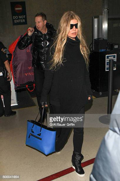 Fergie is seen at LAX on December 05 2015 in Los Angeles California