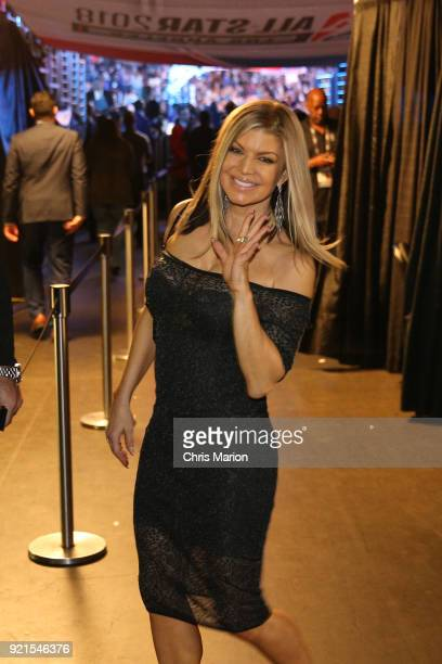 Fergie is seen during the NBA AllStar Game as a part of 2018 NBA AllStar Weekend at STAPLES Center on February 18 2018 in Los Angeles California NOTE...