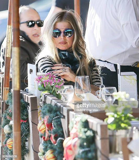 Fergie is seen on December 15 2015 in Los Angeles California