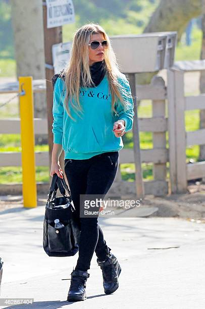 Fergie is seen on February 06 2015 in Los Angeles California