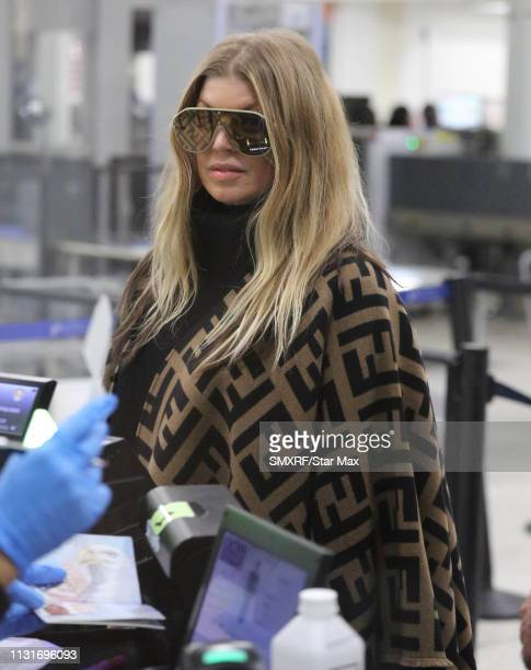 Fergie is seen on March 19, 2019 in Los Angeles, California.