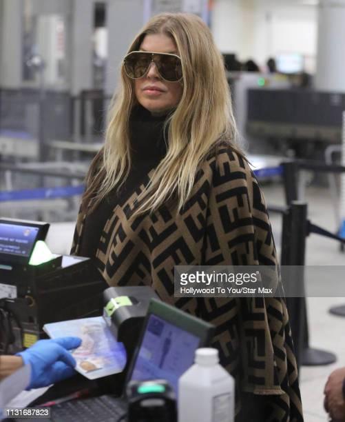 Fergie is seen on March 19, 2019 in Los Angeles.