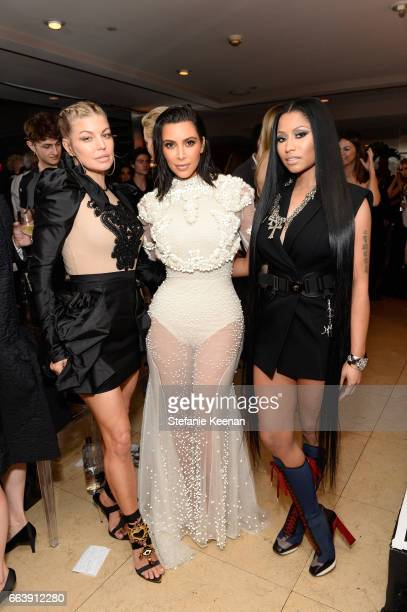 Fergie Kim Kardashian West and honoree Nicki Minaj attend the Daily Front Row's 3rd Annual Fashion Los Angeles Awards at Sunset Tower Hotel on April...