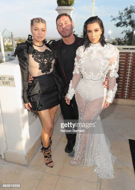 Fergie Mert Alas and Kim Kardashian West attend the Daily Front Row's 3rd Annual Fashion Los Angeles Awards at Sunset Tower Hotel on April 2 2017 in...