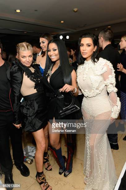 Fergie Nicki Minaj and Kim Kardashian West attend the Daily Front Row's 3rd Annual Fashion Los Angeles Awards at Sunset Tower Hotel on April 2 2017...