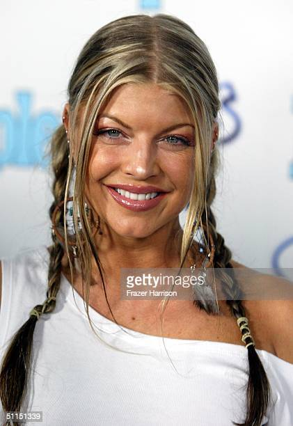 """Fergie of Black Eyed Peas arrives at the 1st Annual Teen People """"Young Hollywood"""" Issue party held on August 7, 2004 at the Teen People mansion in..."""
