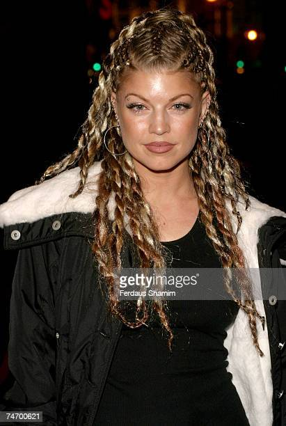 Fergie of Black Eyed Peas at the Cafe Royal in London United Kingdom