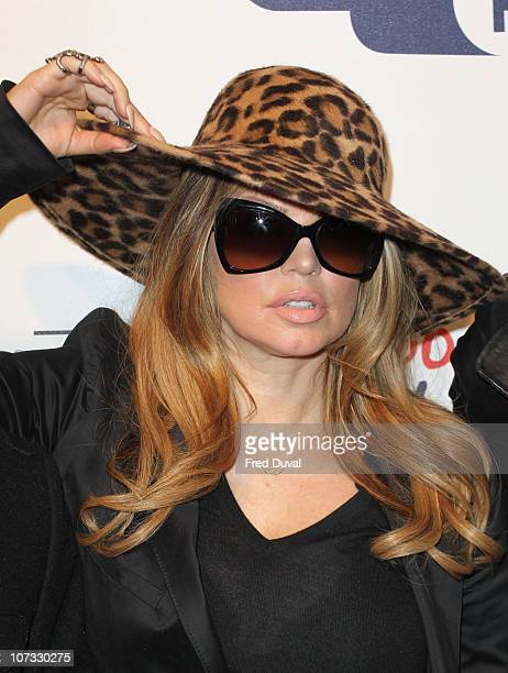 Fergie of Black Eyed Peas attends day one of 'Jingle Bell Ball' at O2 Arena on December 4 2010 in London England