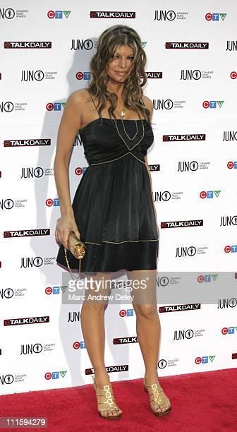 Fergie of Black Eyed Peas during 2006 JUNO Awards Red Carpet at Halifax Metro Centre in Halifax Nova Scotia Canada