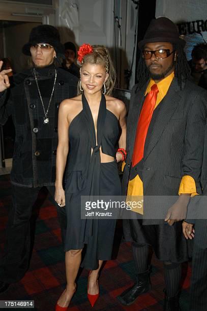 Fergie of Black Eyed Peas during MTV Europe Music Awards 2003 Arrivals at Ocean Terminal Arena in Edinburgh Scotland
