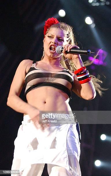 Fergie of Black Eyed Peas during MTV Europe Music Awards 2003 Show at Ocean Terminal Arena in Edinburgh Scotland
