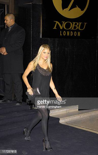 Fergie of Black Eyed Peas during Nobu London - 10th Anniversary Party at The Roof Gardens in London, Great Britain.