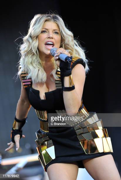 Fergie of Black Eyed Peas performs on the Main Stage at the Wireless Festival on July 1 2011 in London United Kingdom