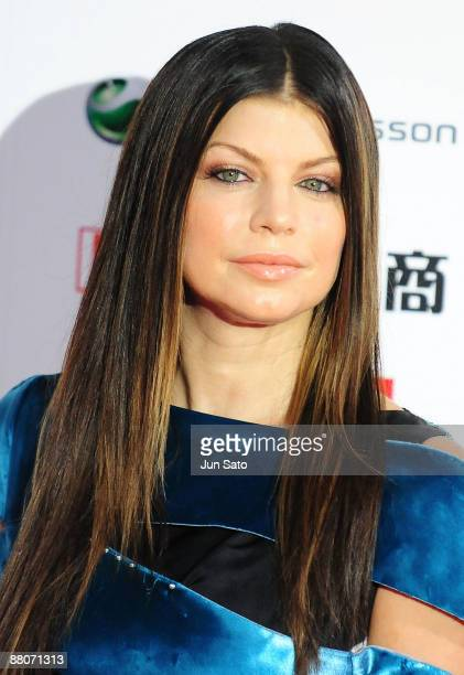Fergie of Black Eyed Peas poses on the red carpet during the MTV Video Music Awards Japan 2009 at Saitama Super Arena on May 30 2009 in Saitama Japan