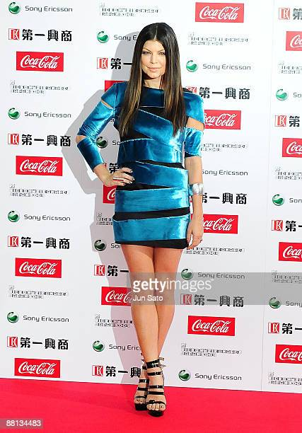 Fergie of Black Eyed Peas poses on the red carpet during the MTV Video Music Awards Japan 2009 at Saitama Super Arena on May 30, 2009 in Saitama,...
