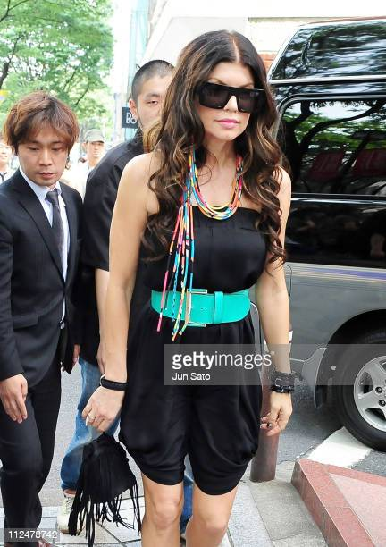 Fergie of Black Eyed Peas visits Ameba Studio to promote their latest album THE END on June 2 2009 in Tokyo Japan The ablum will be on sale on June 3...