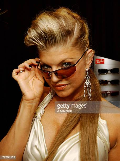 Fergie of Black Eyed Peas with sunglasses by RayBan