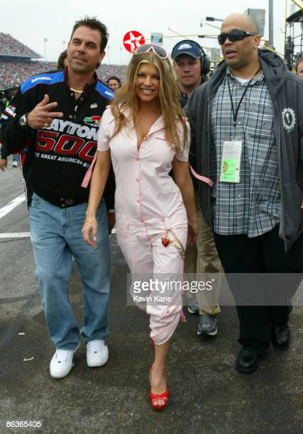 Fergie of the Black Eyed Peas after singing the National Anthem before the 2006 Daytona 500 at the Daytona International Speedway in Daytona Florida...