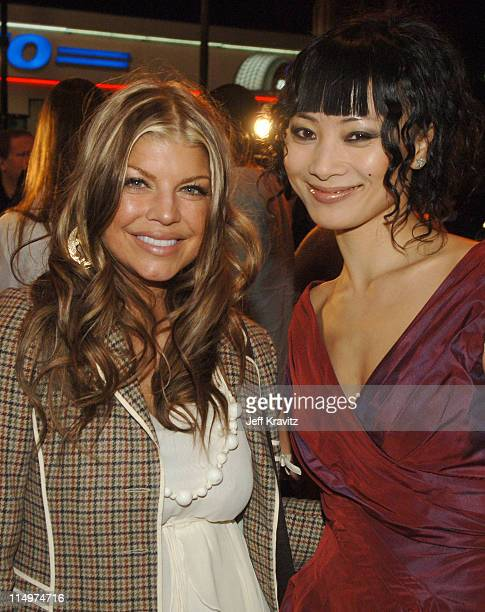 Fergie of The Black Eyed Peas and Bai Ling during Leblon Cachaca Presents The Peapod: A Concert Benefit with Black Eyed Peas - Red Carpet at Henry...