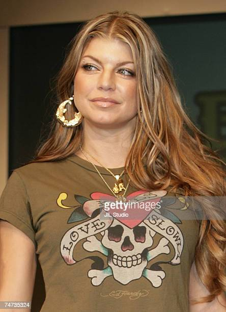 """Fergie of the Black Eyed Peas at the Black Eyed Peas Press Conference for Their New Album """"Monkey Business"""" - September 16, 2005 at Grand Hyatt Tokyo..."""