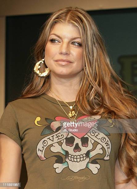 """Fergie of the Black Eyed Peas during Black Eyed Peas Press Conference for Their New Album """"Monkey Business"""" - September 16, 2005 at Grand Hyatt Tokyo..."""
