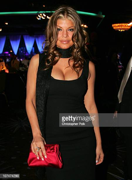 Fergie of the Black Eyed Peas during Clive Davis' 2006 PreGRAMMY Awards Party Dinner at Beverly Hilton Hotel in Beverly Hills California United States