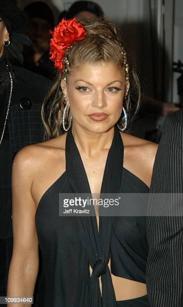 Fergie of The Black Eyed Peas during MTV Europe Music Awards 2003 Arrivals at Ocean Terminal Arena in Edinburgh Scotland