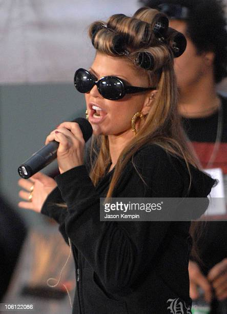 Fergie of The Black Eyed Peas during The Black Eyed Peas Perform On The Today Show September 15 2006 at Rockefeller Center in New York City New York...