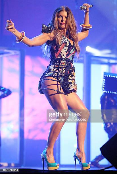 Fergie of The Black Eyed Peas performs at the 2010 American Music Awards held at Nokia Theatre LA Live on November 21 2010 in Los Angeles California