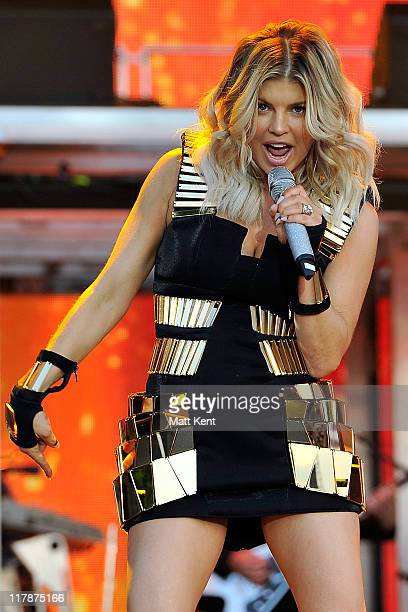 Fergie of the Black Eyed Peas performs on the first day of Wireless Festival at Hyde Park on July 1 2011 in London England