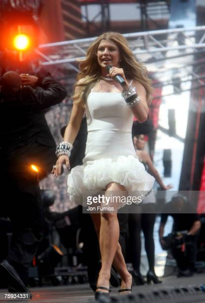 Fergie on stage during The Concert For Diana held at Wembley Stadium on July 1 2007 in London The concert marked the 10th anniversary of Princess...