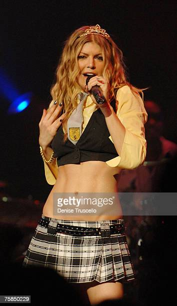 Fergie performs at The Pearl in Palms Hotel and Casino Resort on July 28 2007 in Las Vegas Nevada