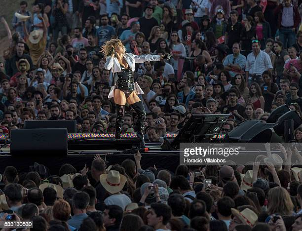 Fergie performs during the second day of Rock in Rio Lisbon on May 20, 2016 in Lisbon, Portugal.
