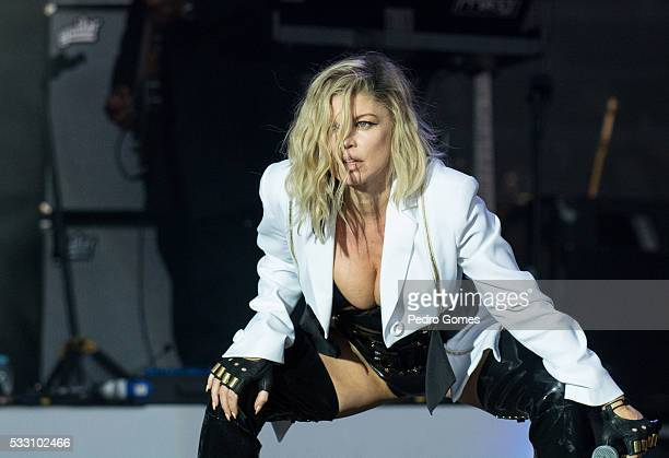 Fergie performs on Mundo stage at Rock in Rio on May 20 2016 in Lisbon Portugal