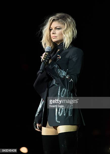 Fergie performs on stage during New York City Pride 2016 - Dance On The Pier on June 26, 2016 in New York City.