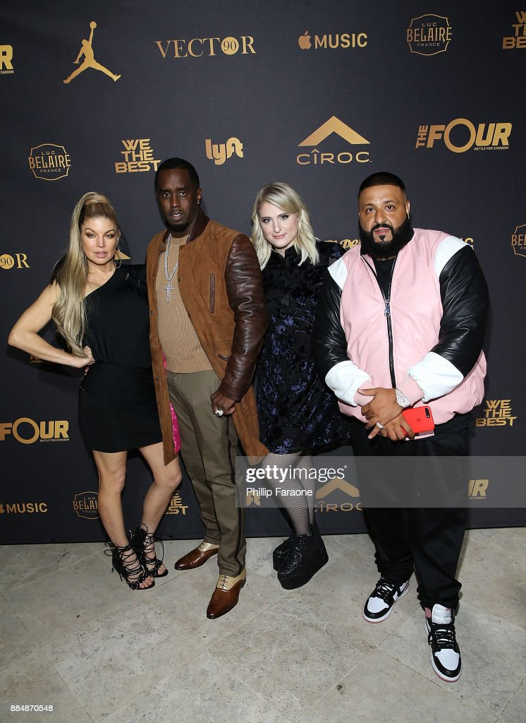 Fergie, Sean 'Diddy' Combs, Meghan Trainor, and DJ Khaled attend Ciroc Celebrates DJ Khaled's Birthday in Beverly Hills on December 2, 2017 in Beverly Hills, California.