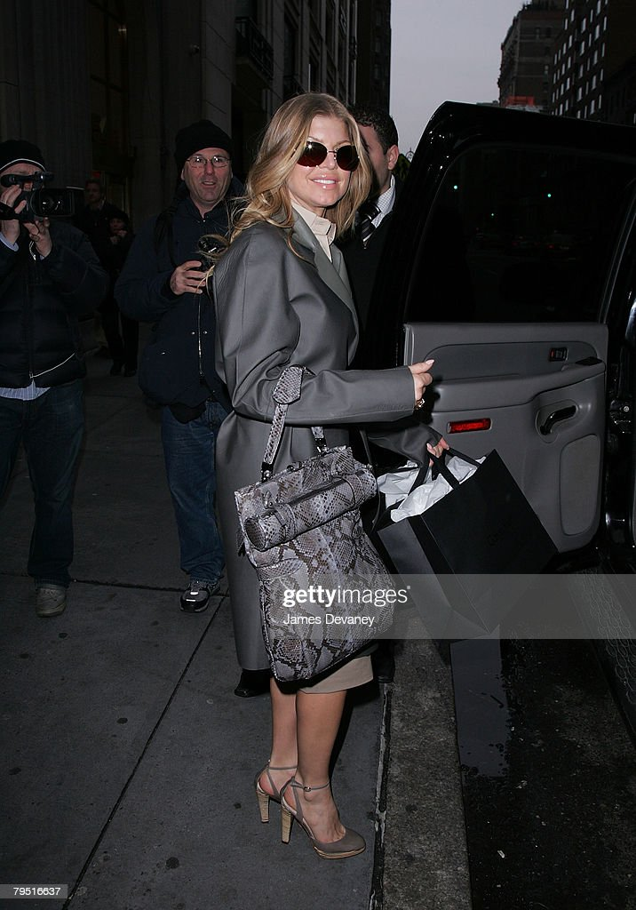 31fbde9584 Fergie shops at the Calvin Klein store on Madison Avenue on February ...