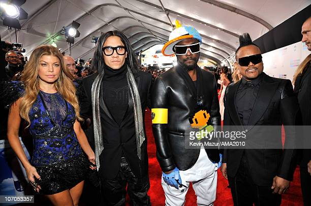 Fergie , Taboo, will.i.am and apl.de.ap of Black Eyed Peas arrives at the 2010 American Music Awards held at Nokia Theatre L.A. Live on November 21,...