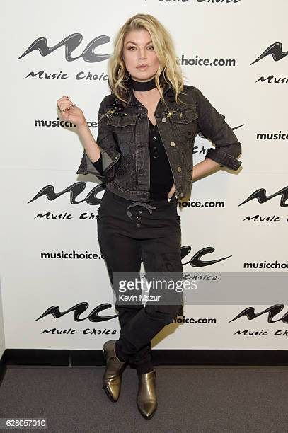 Fergie visits Music Choice on December 6 2016 in New York City