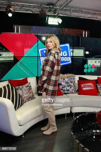 Fergie visits the Young Hollywood Studio on January 16 2017 in Los Angeles California